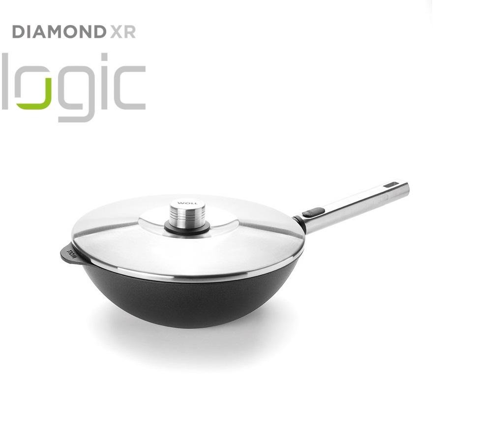 WOK Pánev na soté Diamond PRO XR Logic s odnímatelnou rukojetí 28 cm - WOLL