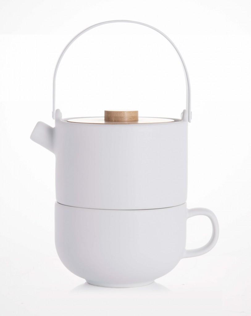 Sada Tea for one UMEA, bílá - Bredemeijer