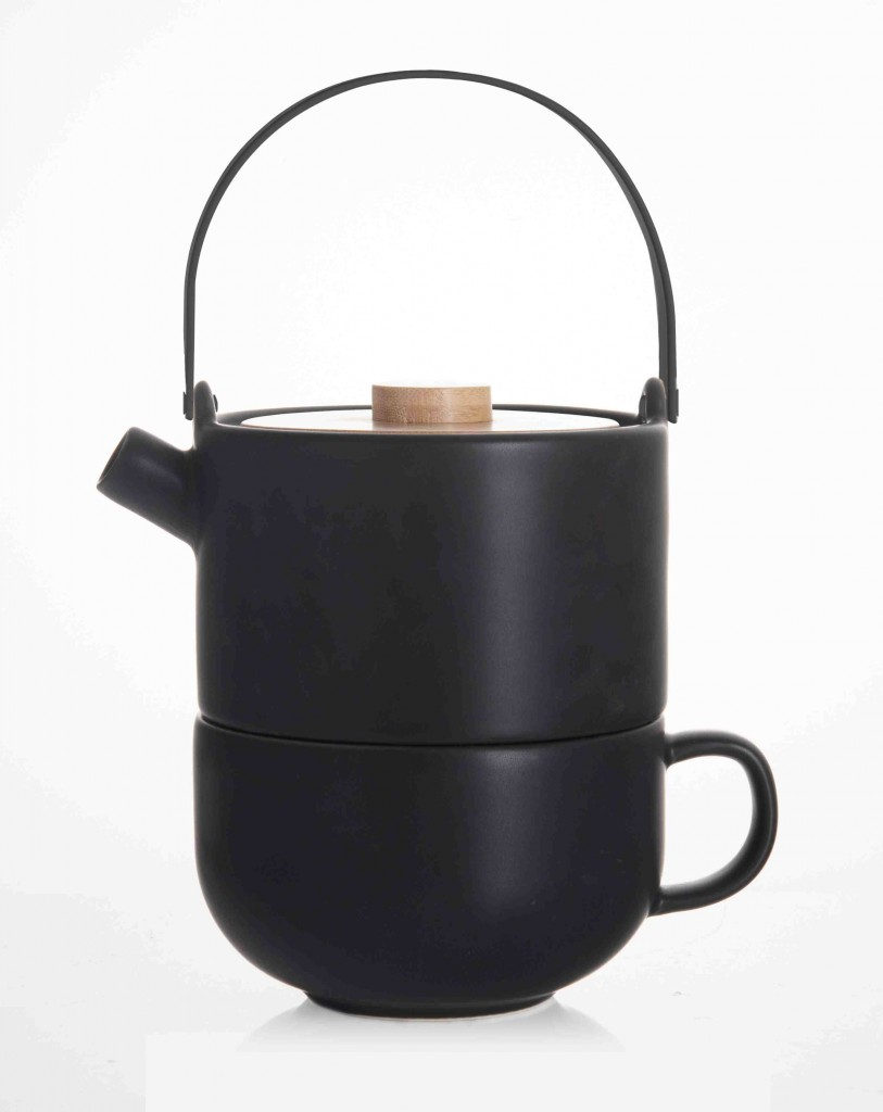 Sada Tea for one UMEA, černá - Bredemeijer