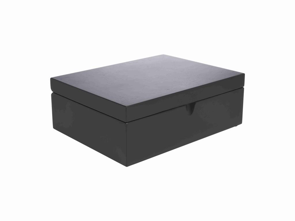 Krabička na sypaný čaj BLACK se 4 dózami - Bredemeijer