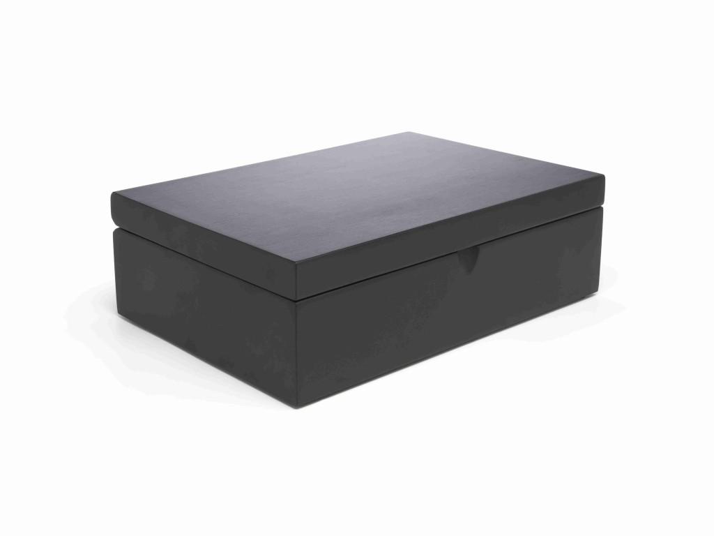 Krabička na sypaný čaj BLACK s 6 dózami - Bredemeijer