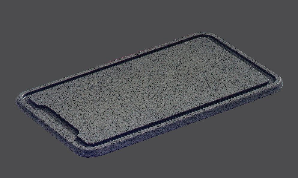 Antracitové dranžírovací  prkénko 36 x 23 x 1,5 cm - Zassenhaus