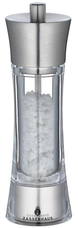 Mlýnek na sůl AACHEN nerez/akryl 18 cm - Zassenhaus