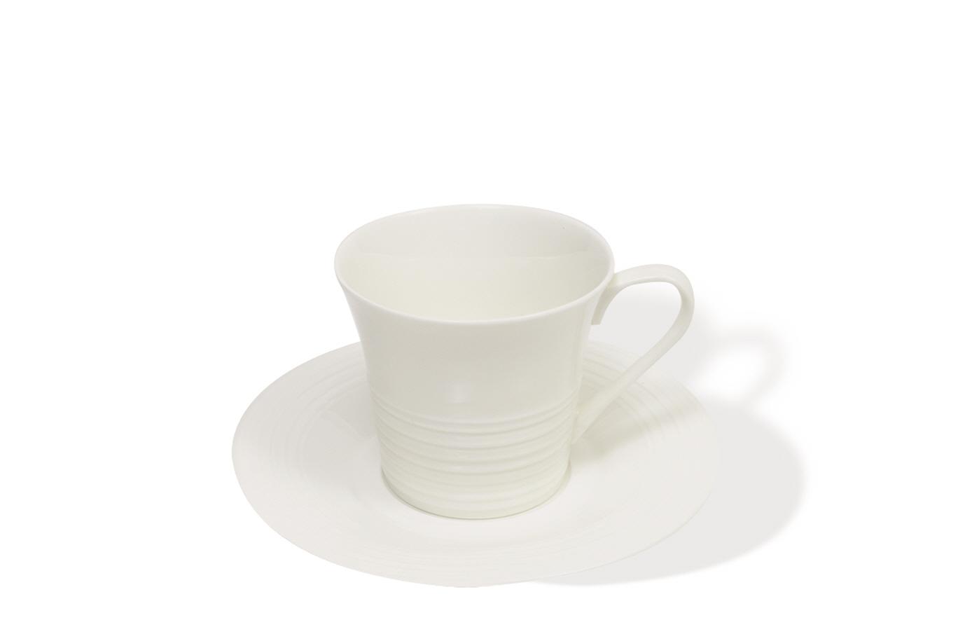 Šálek s podšálkem na cappuccino White Basics Cirque 220 ml - Maxwell&W