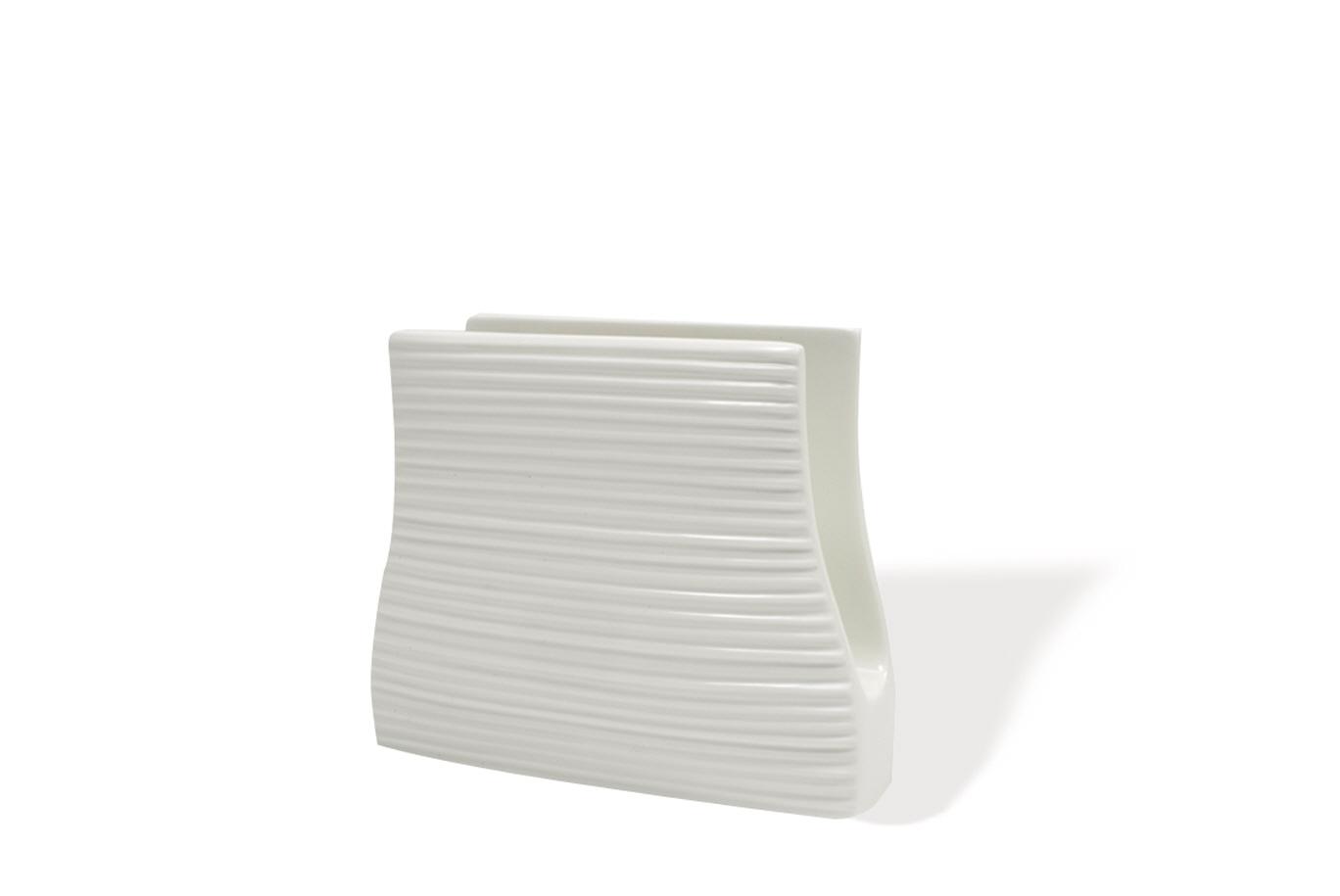 Stojan na ubrousky White Basics Cirque 13,5 x 12,5 cm - Maxwell&Willia