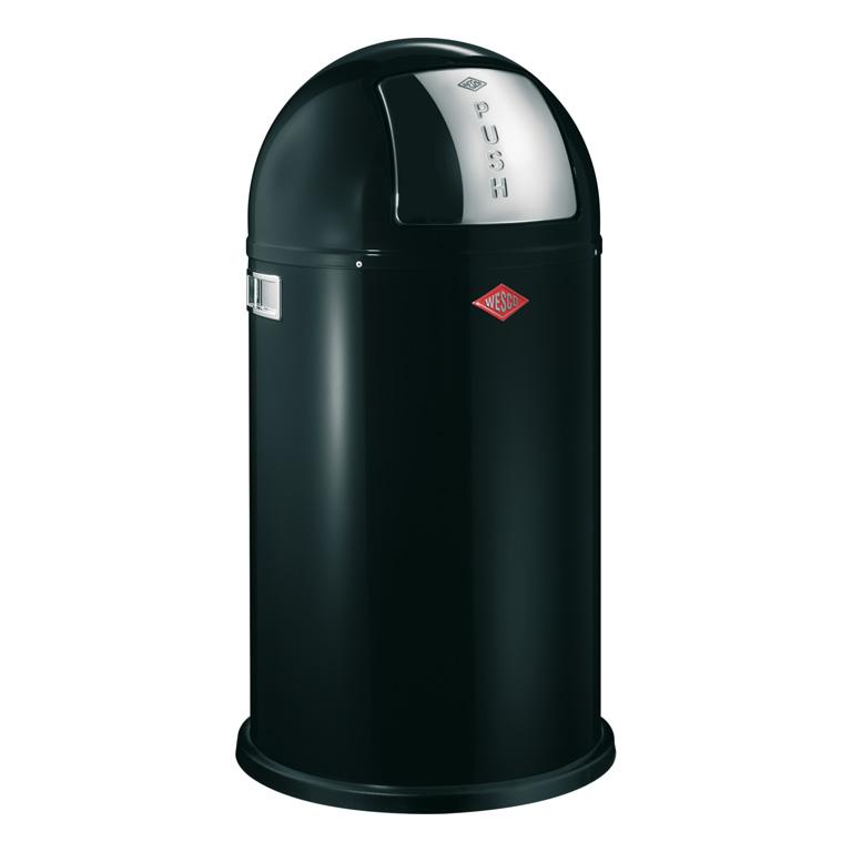 Odpadkový koš Pushboy černá 50l - Wesco