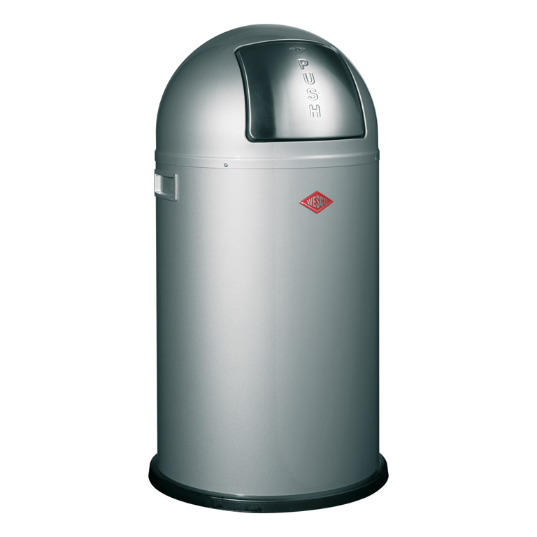 Odpadkový koš Pushboy stříbrná 50l - Wesco