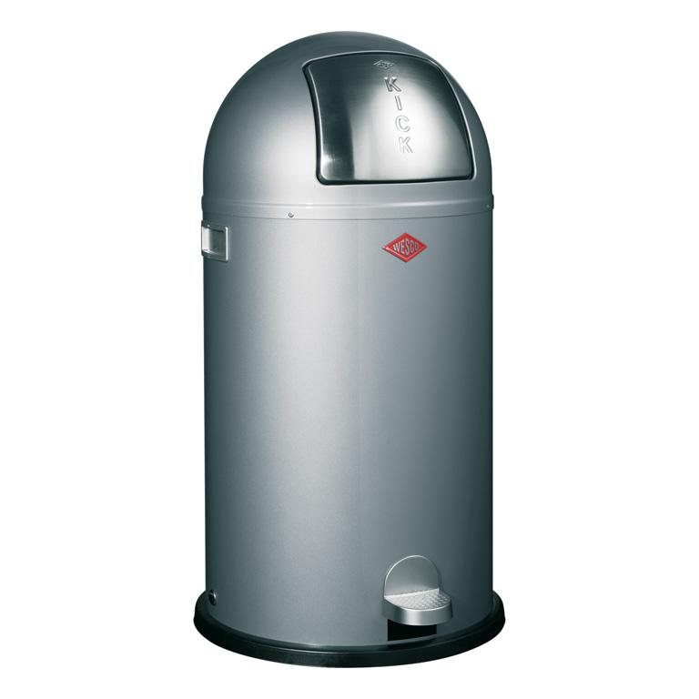 Odpadkový koš Kickboy nášlapný stříbrná 40 l - Wesco