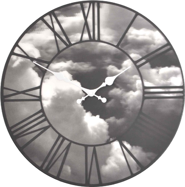 Nástěnné hodiny CLOUDS 3D 39 cm - NEXTIME