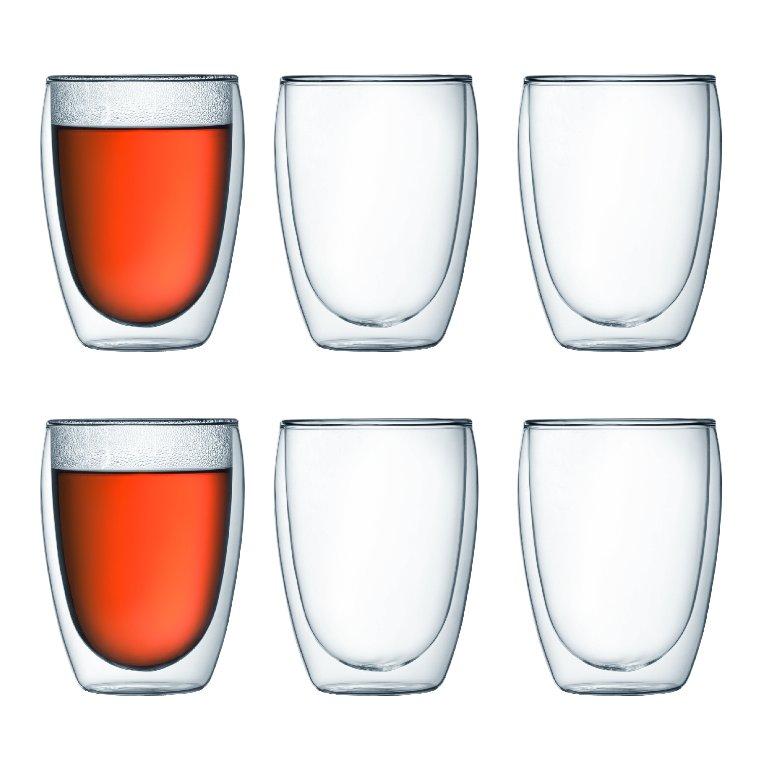 Set 6 ks Dvoustěnná sklenice PAVINA 0,35 l - Bodum