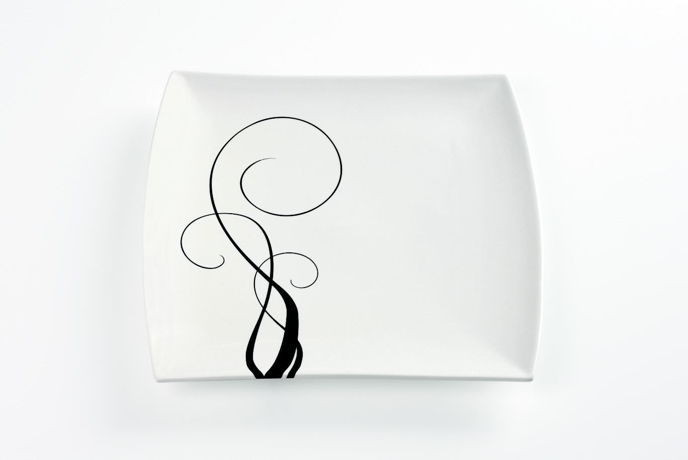 Čtvercový mělký talíř Breeze 30 x 30 cm - Maxwell Williams