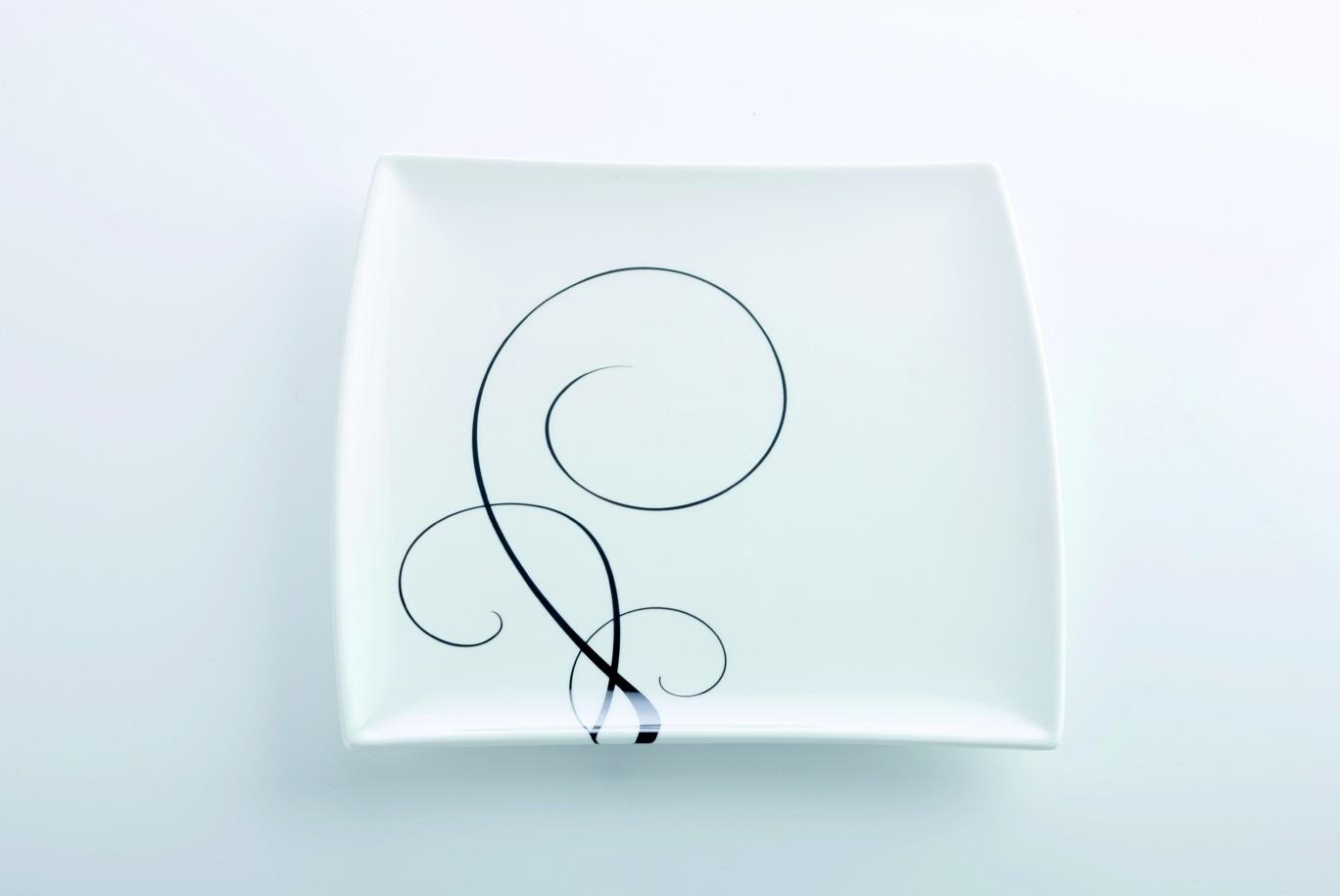 Čtvercový mělký talíř Breeze 23 x 23 cm - Maxwell Williams
