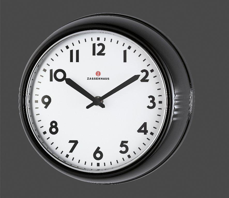 Retro nástěnné hodiny černé 24 cm - Zassenhaus