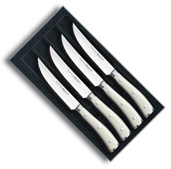 Sada steakových nožů CLASSIC IKON Creme White 4 ks - Wüsthof Dreizack Solingen