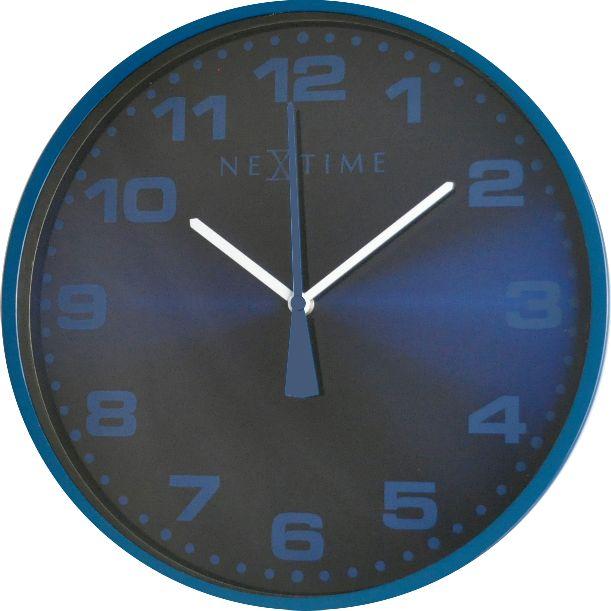 Nástěnné hodiny Dash Blue 35 cm - NEXTIME