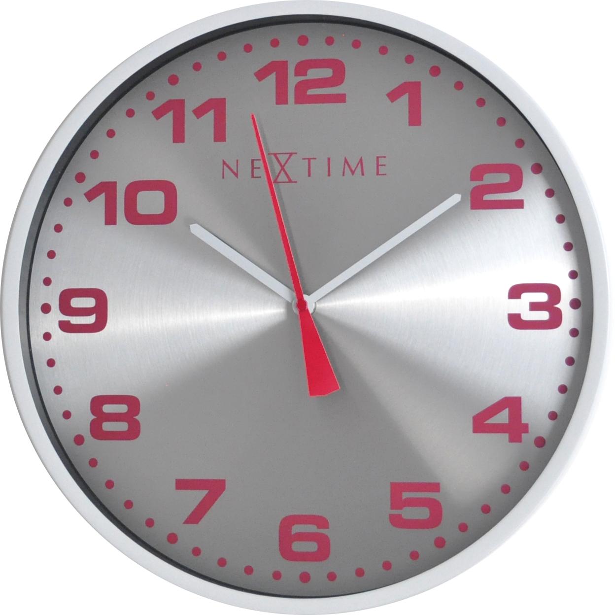Nástěnné hodiny Dash White 35 cm - NEXTIME