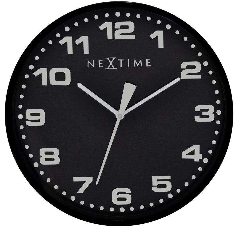 Nástěnné hodiny Dash Black 35 cm - NEXTIME