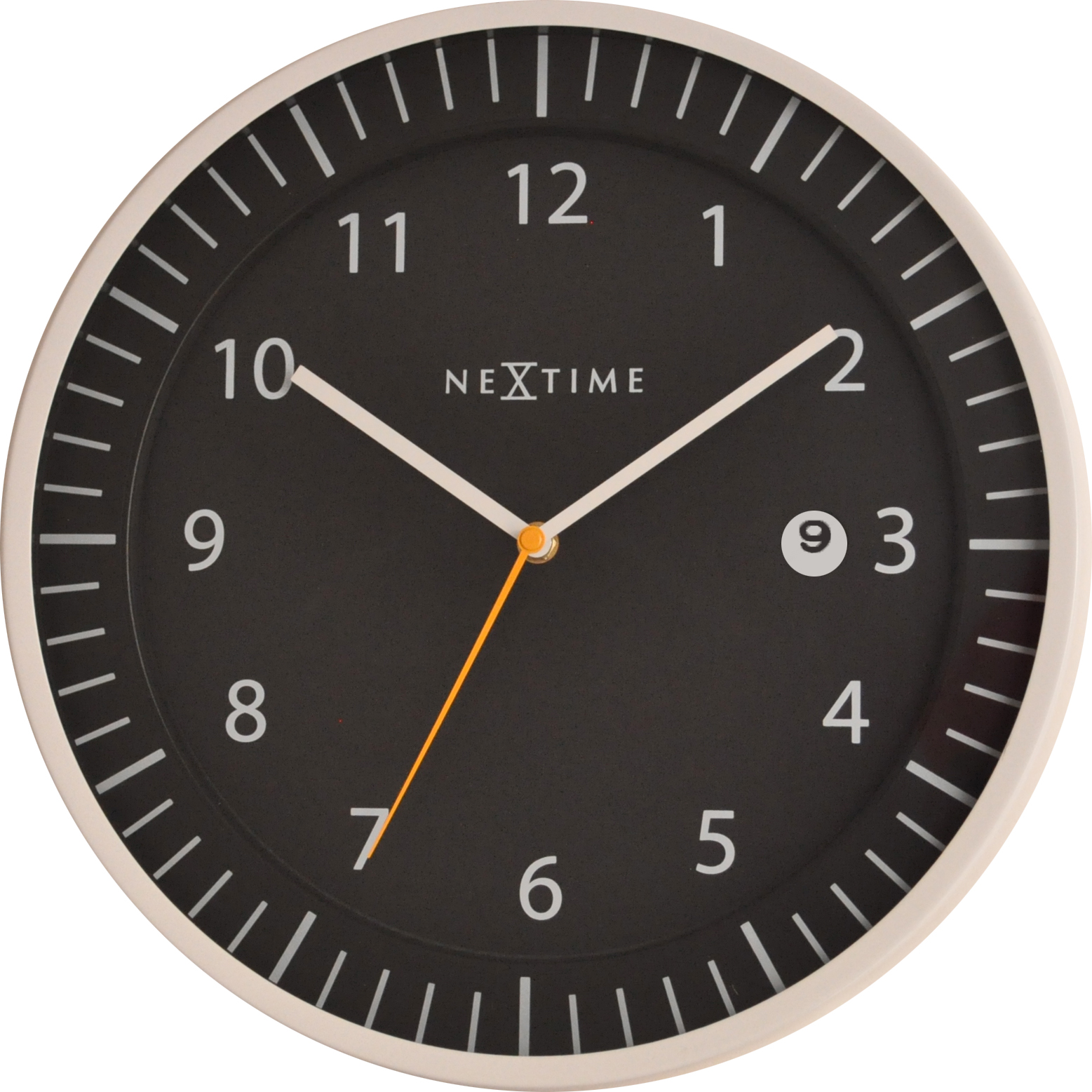 Nástěnné hodiny Quick 35 cm černé - NEXTIME