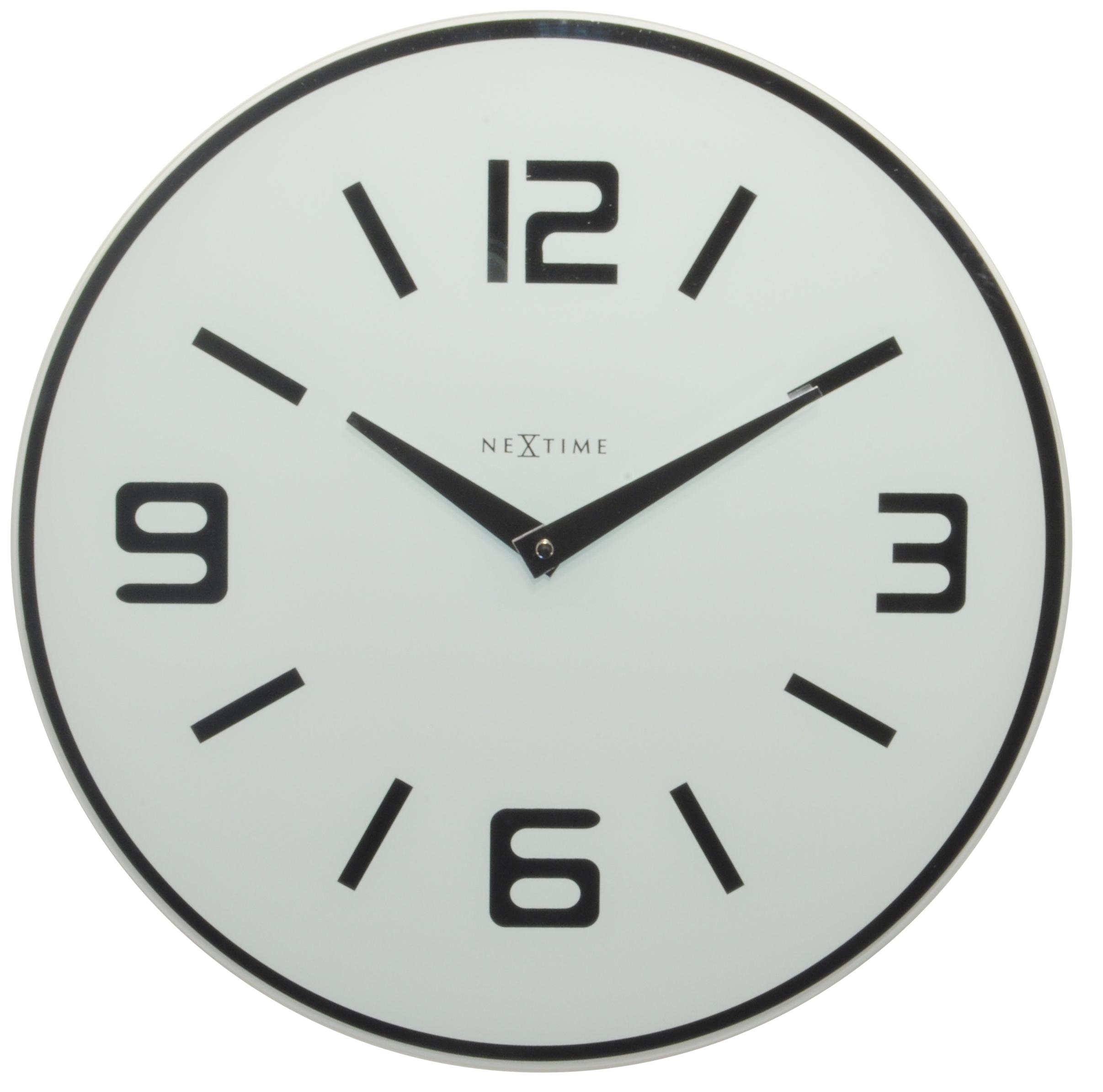 Nástěnné hodiny Shuwan 43 cm bílé - NEXTIME