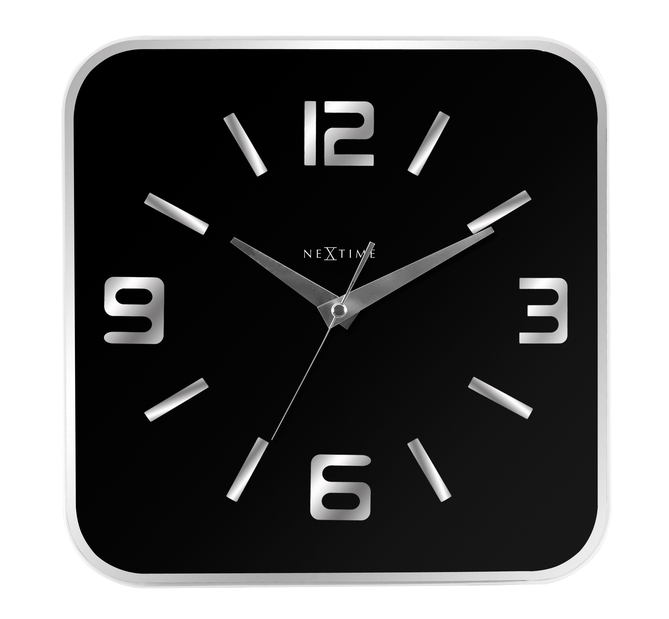 Nástěnné hodiny Shoko 43 x 43 cm černé - NEXTIME