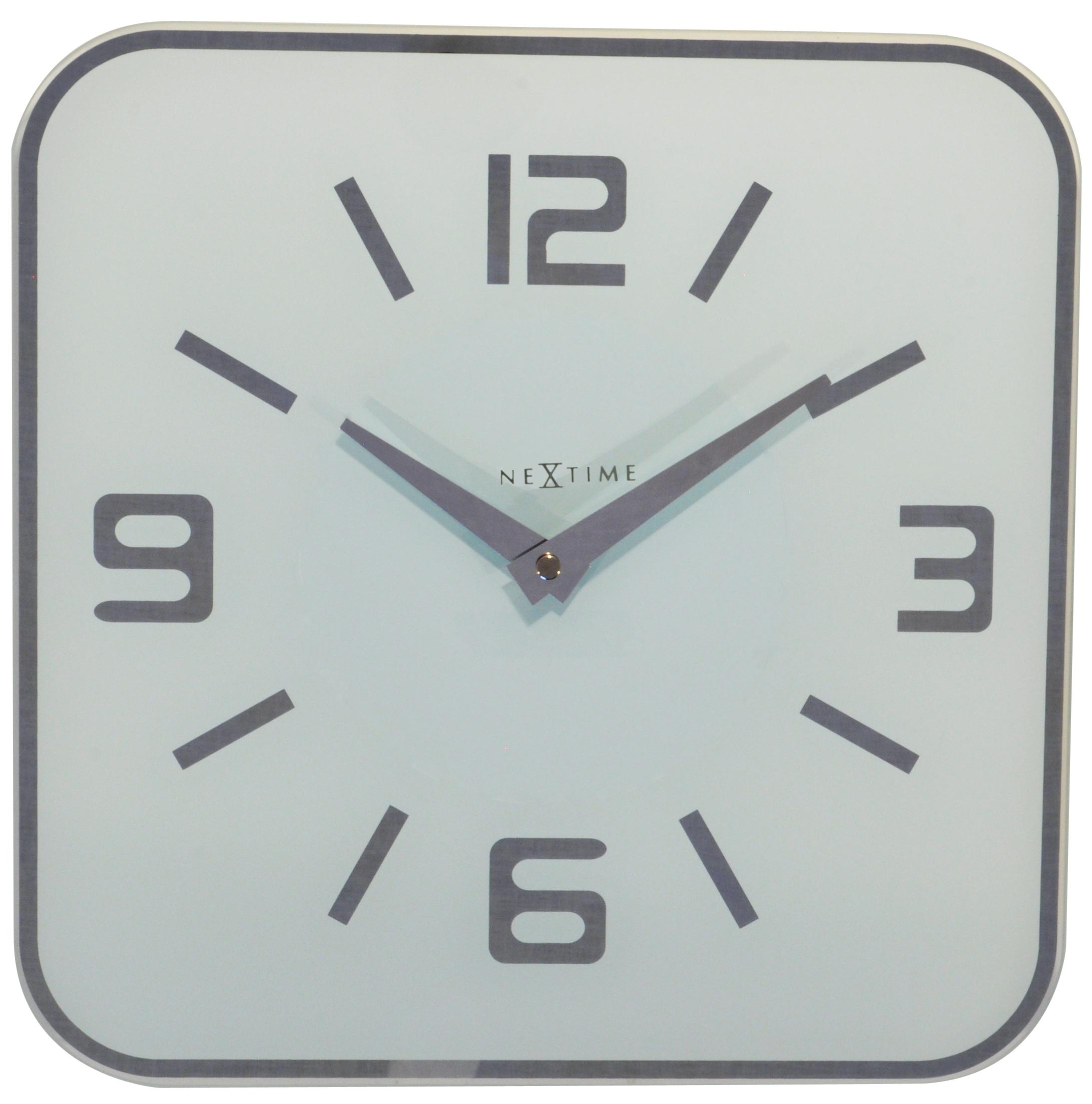 Nástěnné hodiny Shoko 43 x 43 cm bílé - NEXTIME