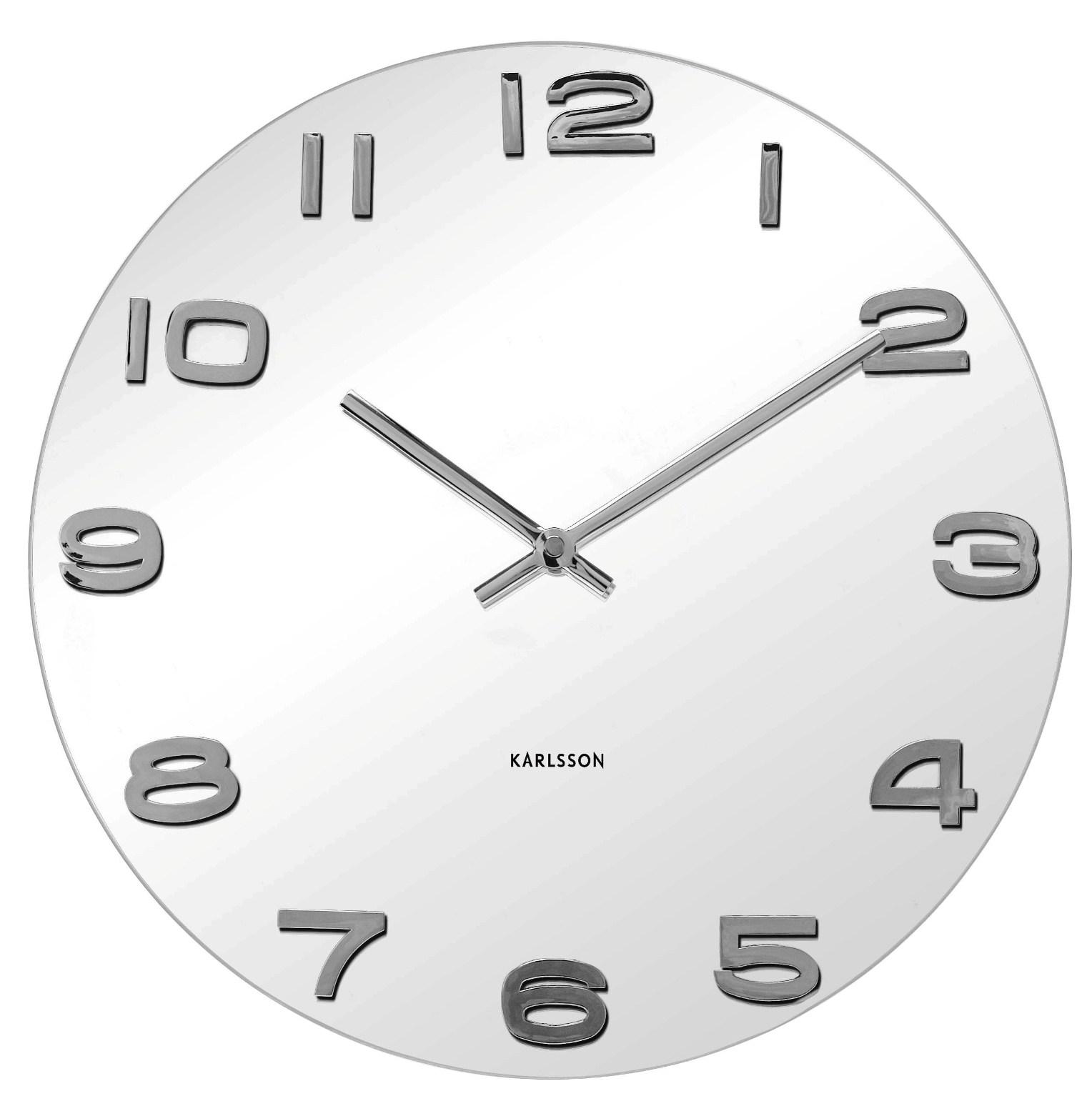 Nástěnné hodiny Vintage white round 35 cm bílé - Karlsson