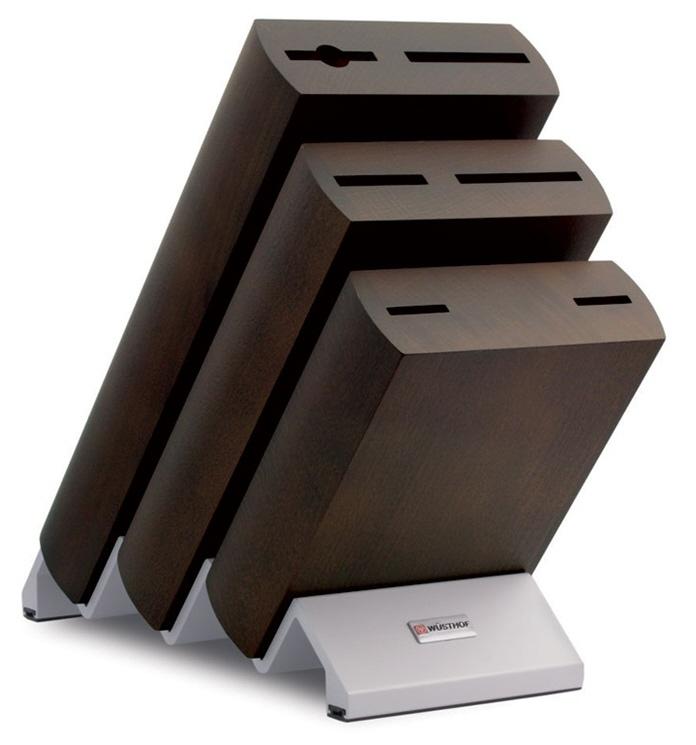 Blok na nože čokoládový, na 6ks Wüsthof Dreizack Solingen