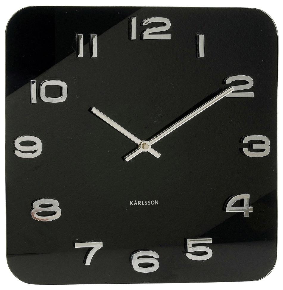 Nástěnné hodiny Vintage black 35 x 35 cm černé - Karlsson