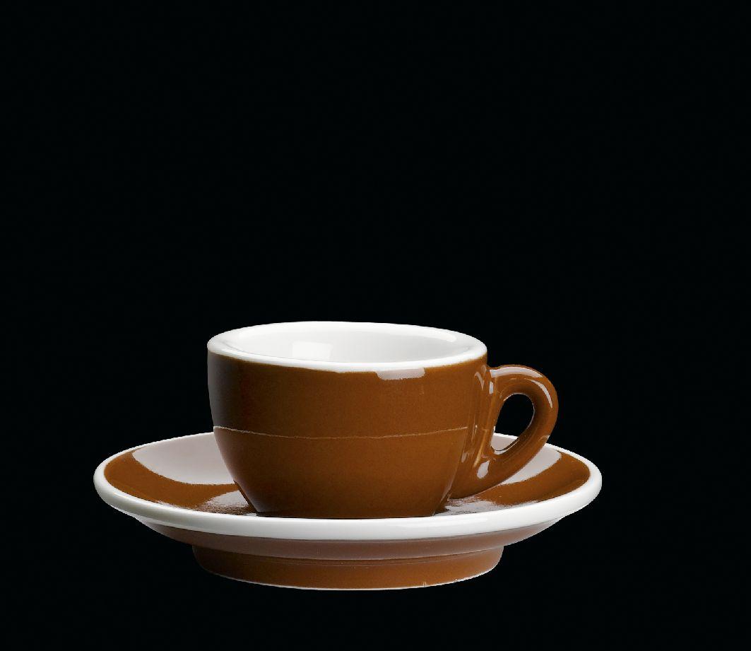 Porcelánový šálek na espresso ROMA hnědý 50 ml - Cilio