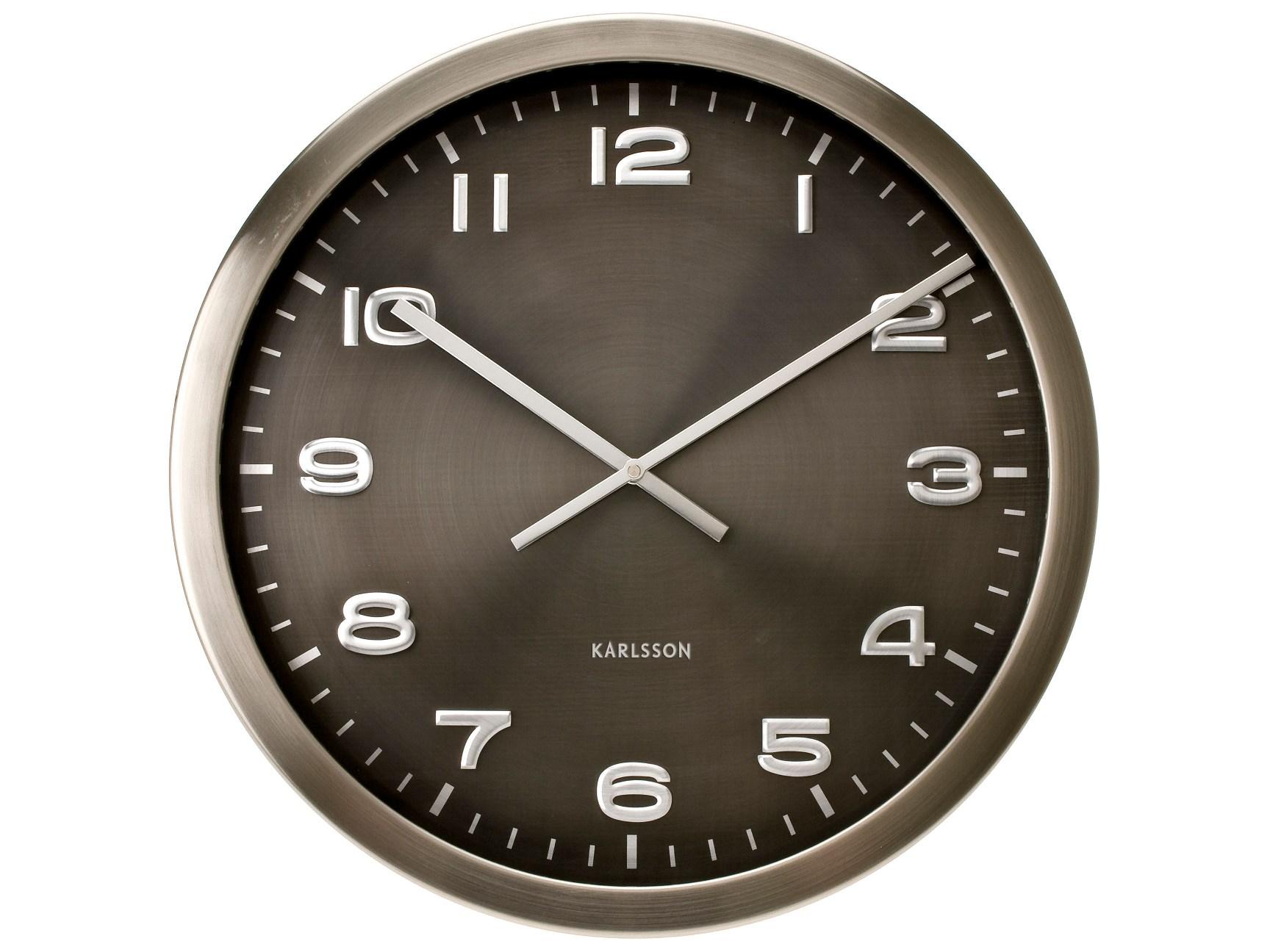 Nástěnné hodiny Maxie steel 50 cm nerez - Karlsson
