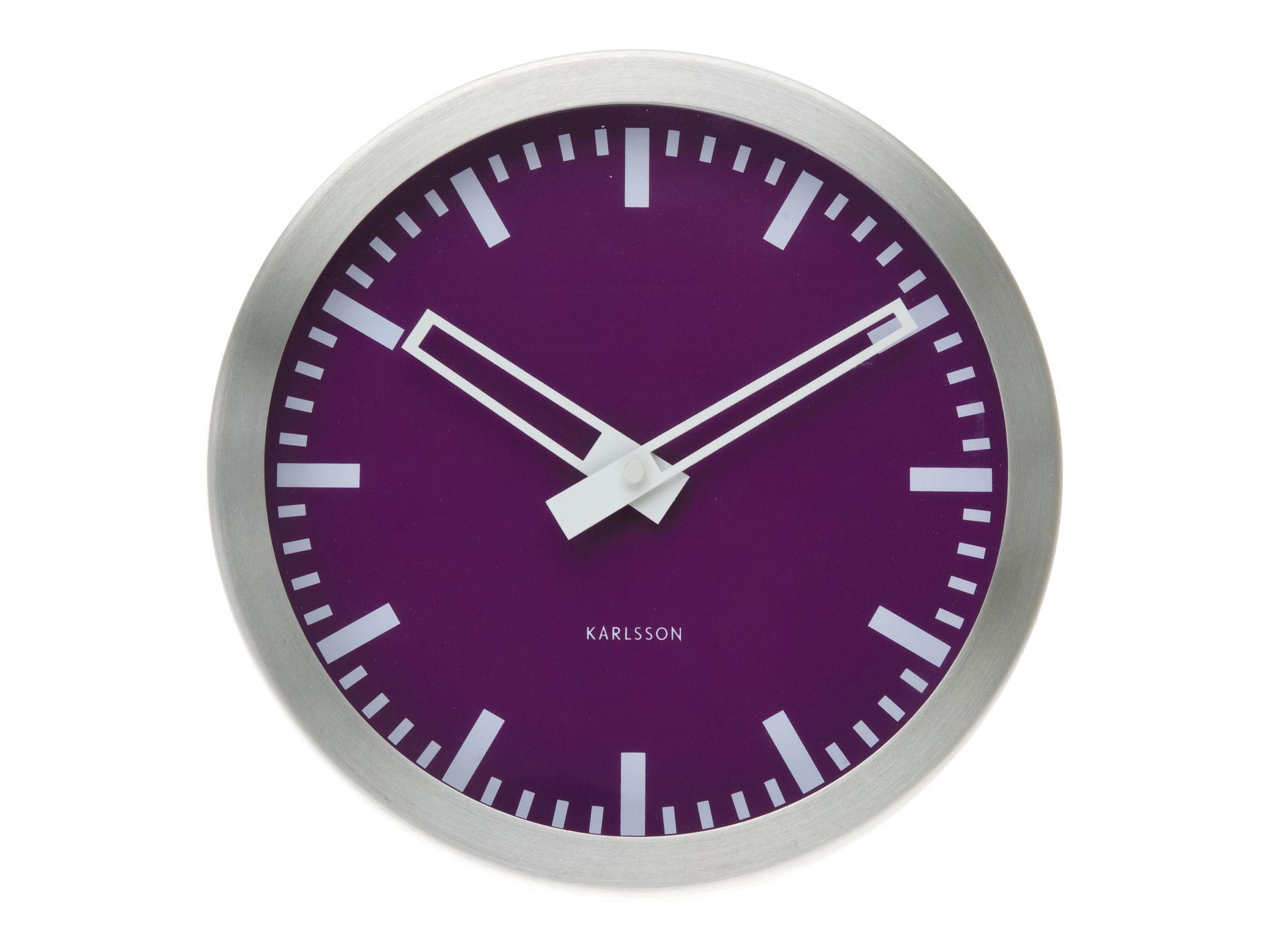 Nástěnné hodiny Colour Splash mini purple 25 cm fialové - Karlsson