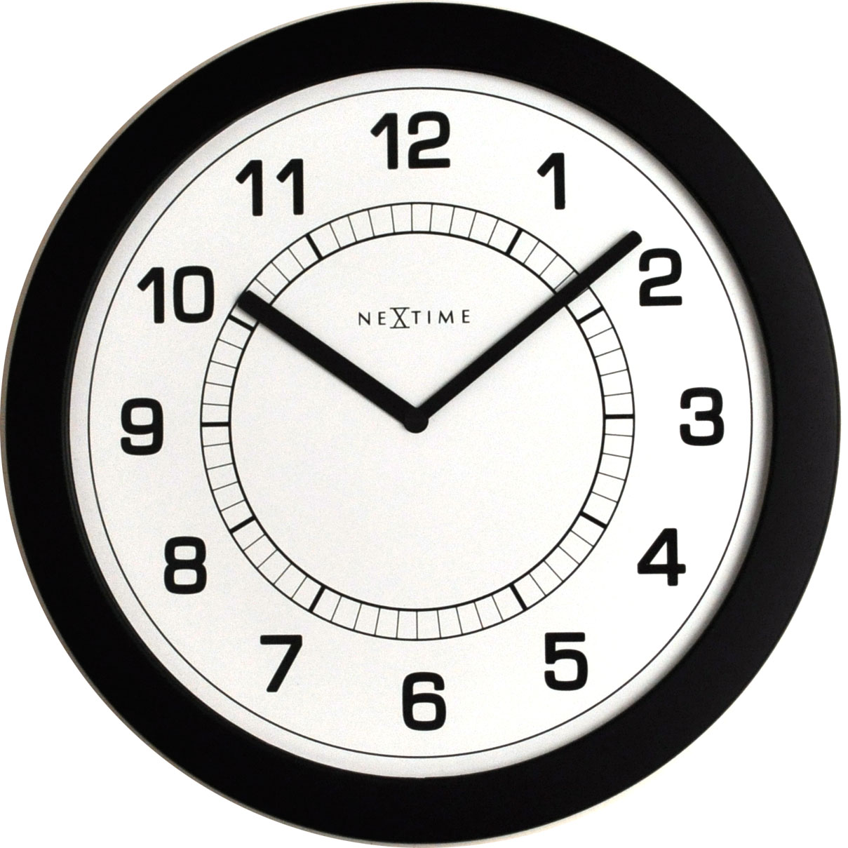 Nástěnné hodiny Super slim 28 cm černé - NEXTIME