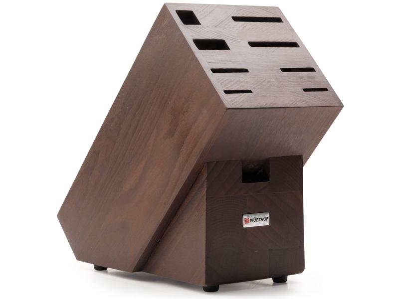 Blok na nože čokoládový, na 9ks jasanové dřevo - Wüsthof Dreizack Solingen