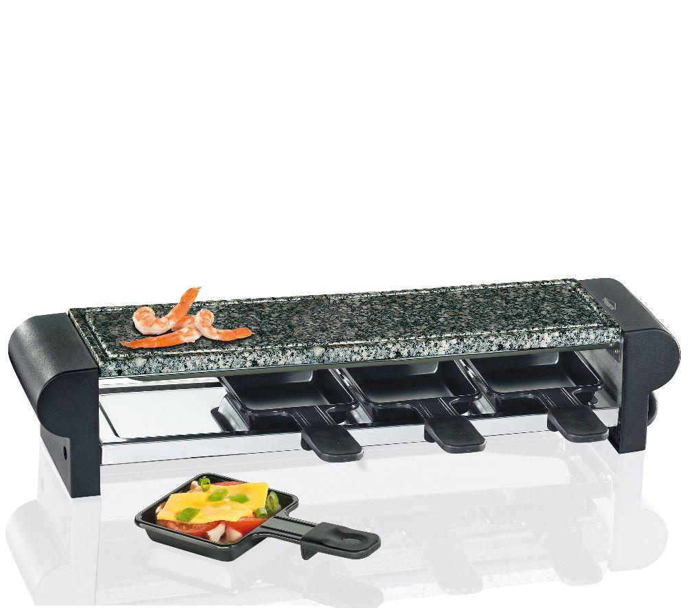 Elektrický gril Raclette Hot Stone Quattro černý - Küchenprofi