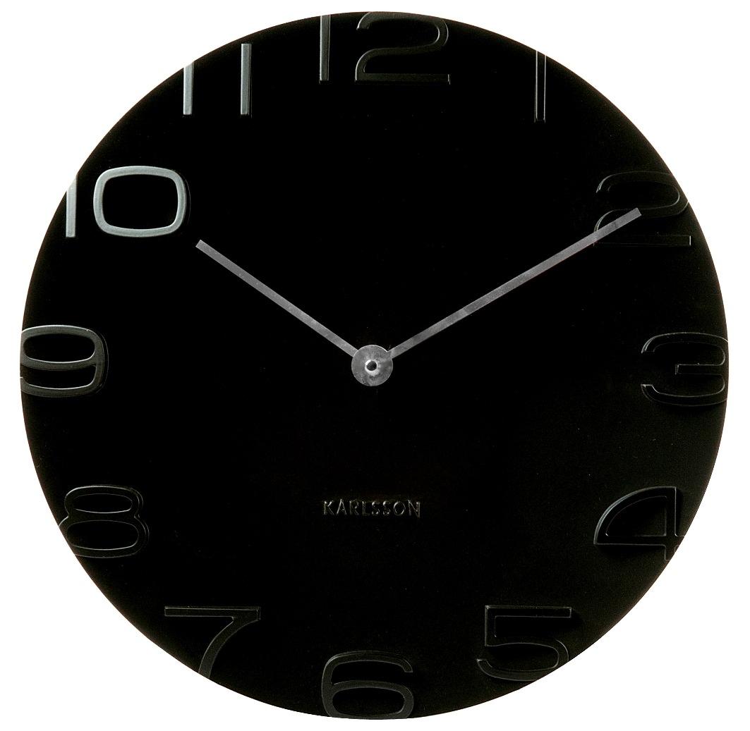 Nástěnné hodiny On The Edge 42 cm černé - Karlsson