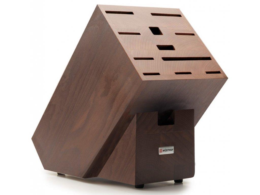 Blok na nože čokoládový, na 12ks jasanové dřevo - Wüsthof Dreizack Solingen