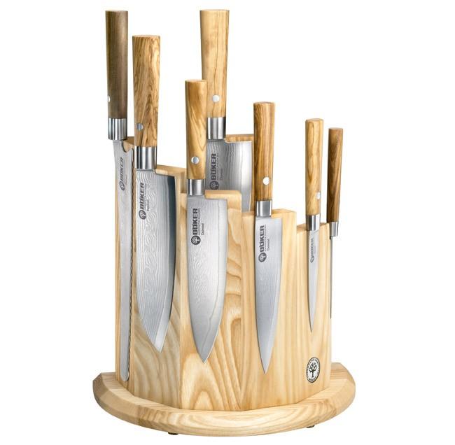 Fotografie Set damaškových kuchyňských nožů Damast Olive 7ks - Böker Solingen