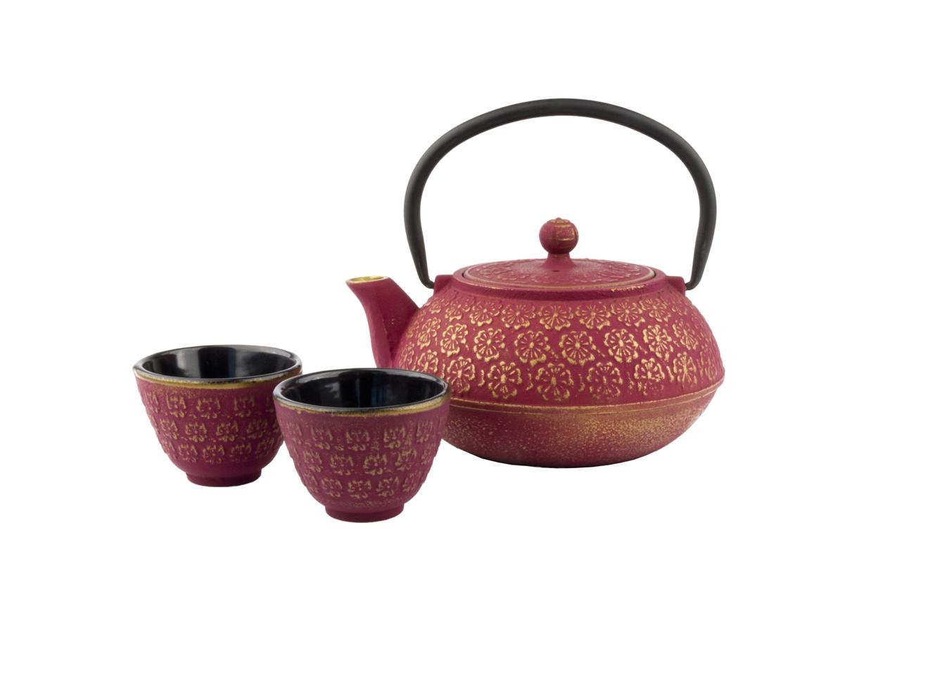 Set Čajová konvice se šálky Shanghai 600 ml růžovozlatá - Bredemeijer