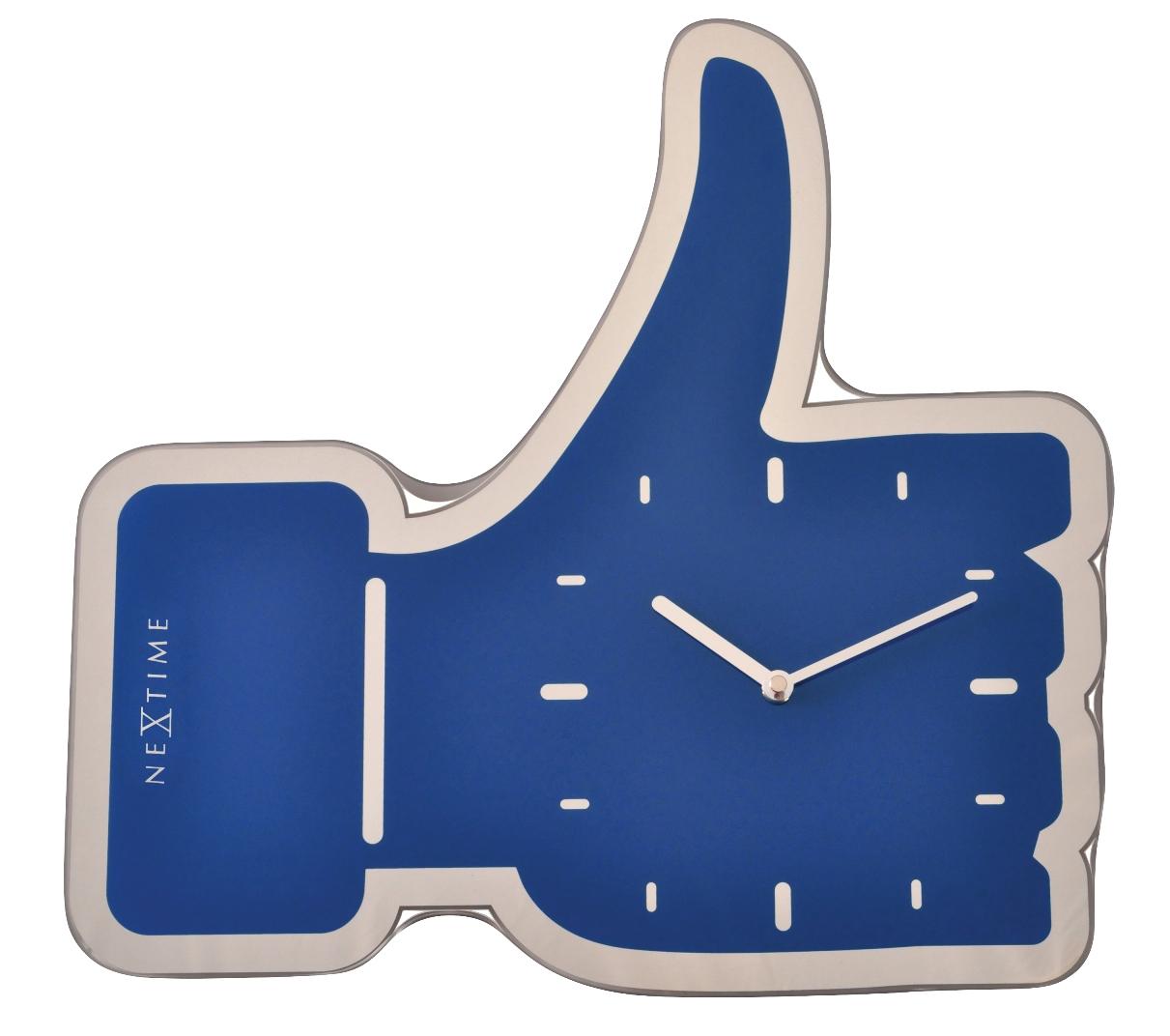 Nástěnné hodiny Facebook Like 42cm modré - NEXTIME