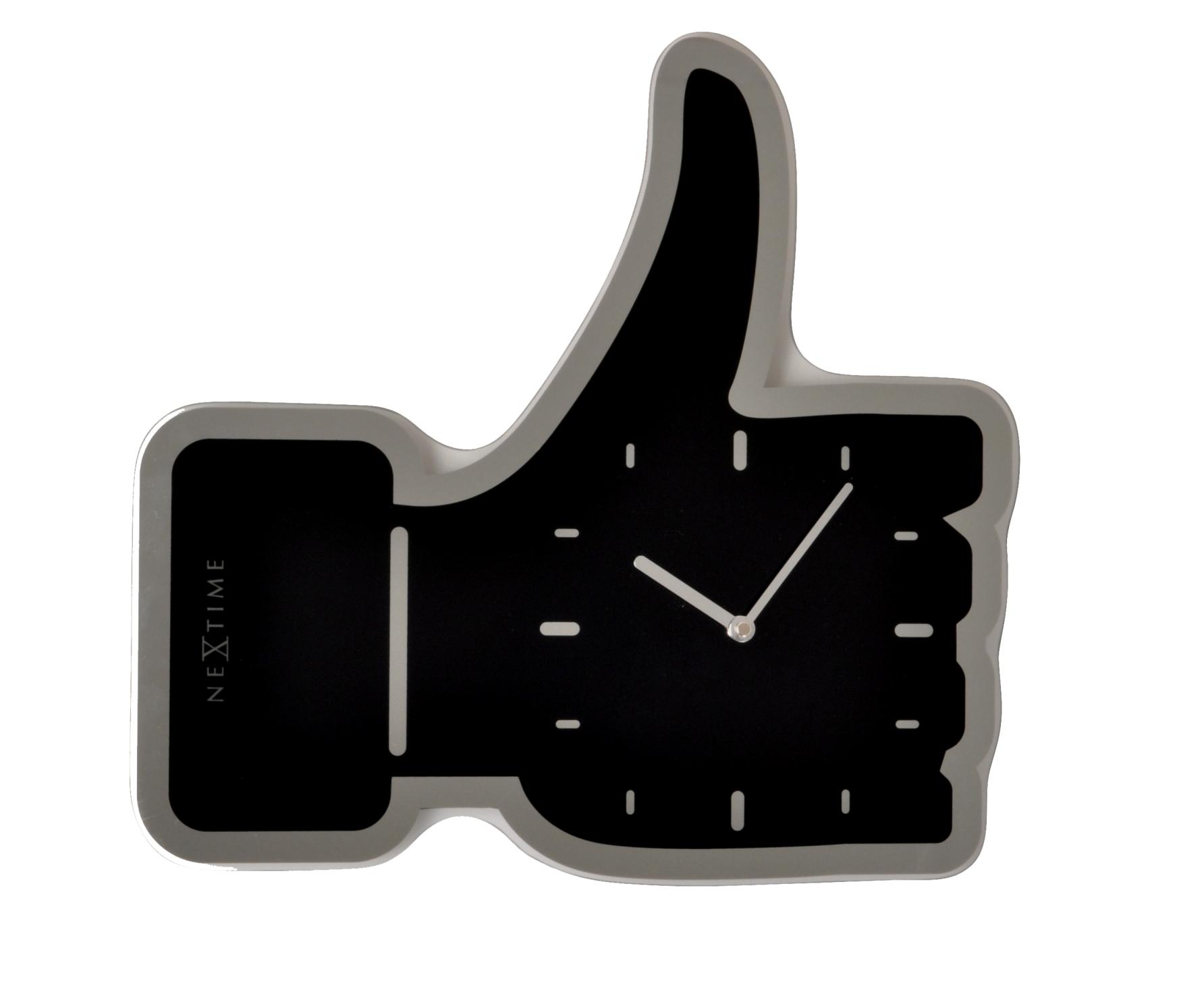 Nástěnné hodiny Facebook Like 42cm černé - NEXTIME