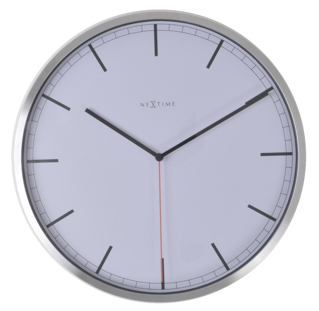 Nástěnné hodiny Company White Stripe 35 cm bílé - NEXTIME