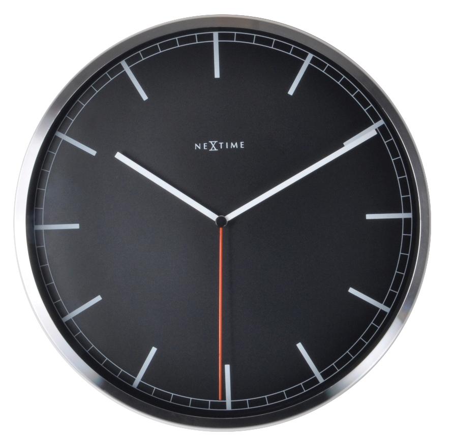 Nástěnné hodiny Company Black Stripe 35 cm černé - NEXTIME