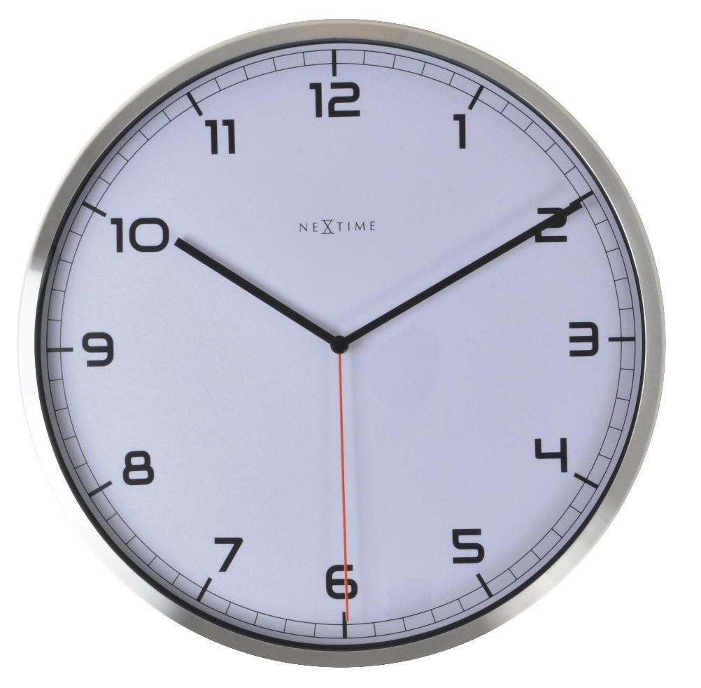 Nástěnné hodiny Company number 35 cm bílé - NEXTIME