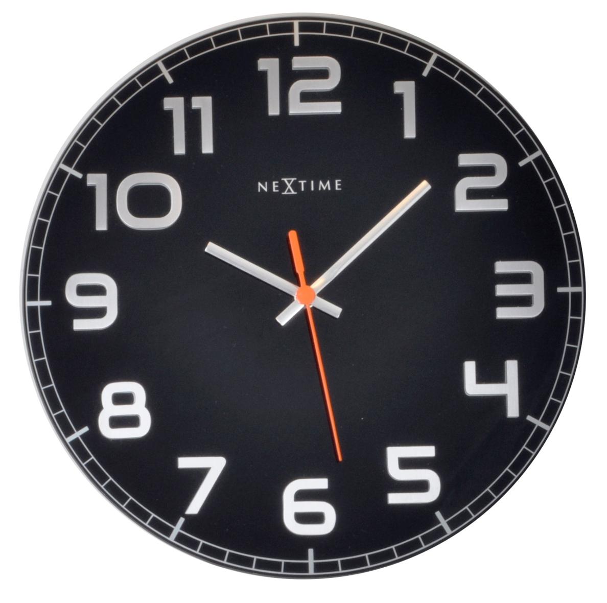 Nástěnné hodiny Classy round 30 cm černé - NEXTIME