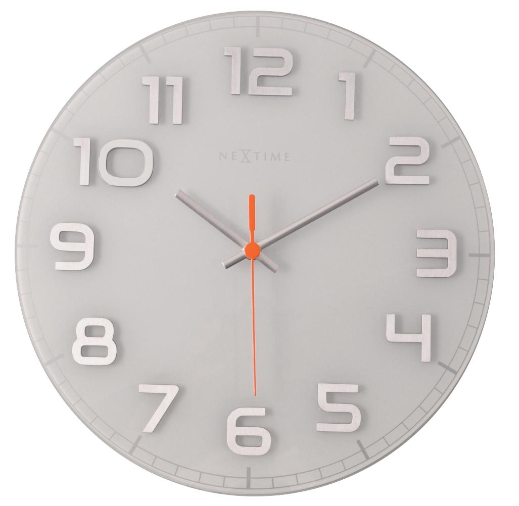 Nástěnné hodiny Classy round 30 cm bílé- NEXTIME