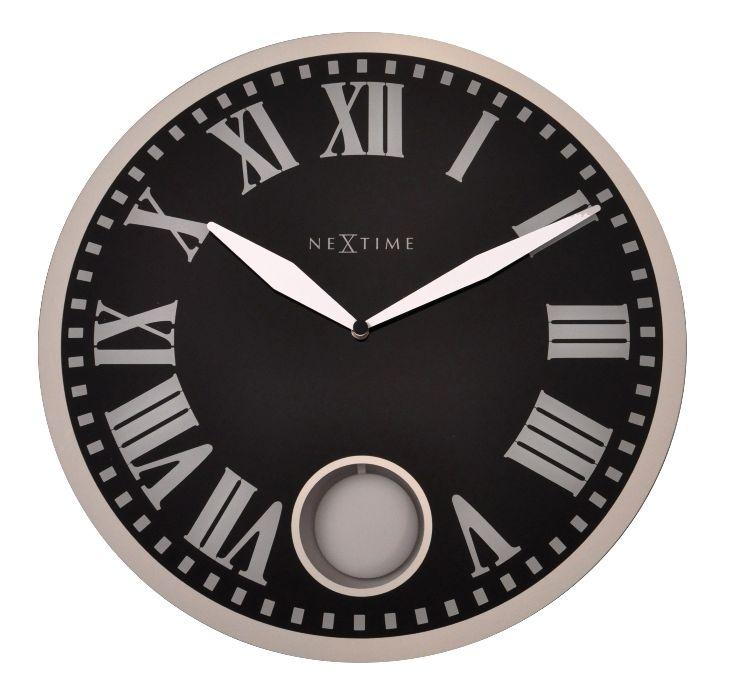 Nástěnné hodiny Romana 43 cm černé - NEXTIME