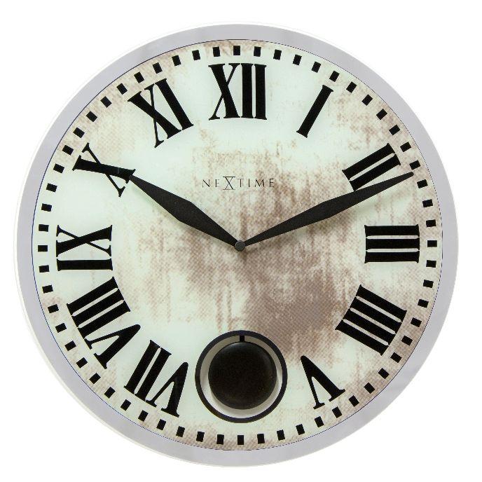 Nástěnné hodiny Romana 43 cm bílé - NEXTIME