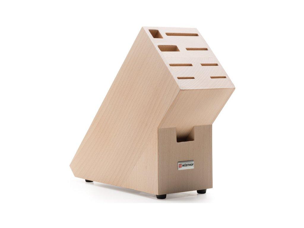 Blok na nože přírodní, na 9ks bukové dřevo - Wüsthof Dreizack Solingen