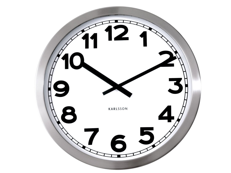 Fotografie Nástěnné hodiny Wanduhr Numbers 50 cm - Karlsson