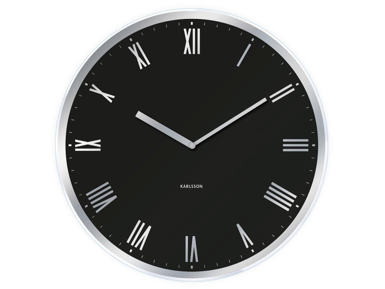 Nástěnné hodiny Modern Roman 40cm černé - Karlsson